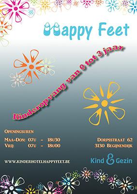 Kinderopvang Happy Feet Poster